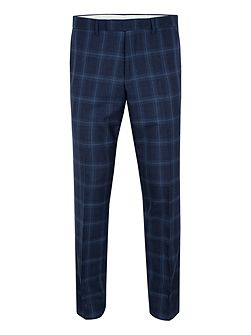 Sutton Slim Fit Wool Check Suit Trousers