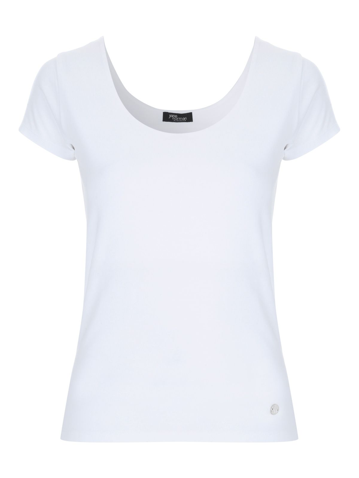 Jane Norman Bust Support T-Shirt, White