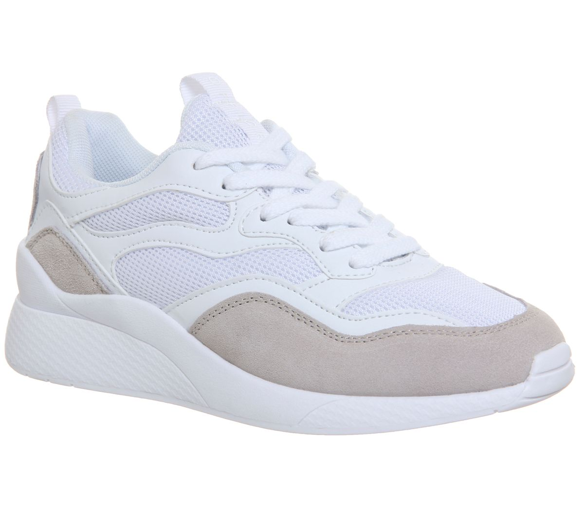Office Fife Chunky Trainers, White