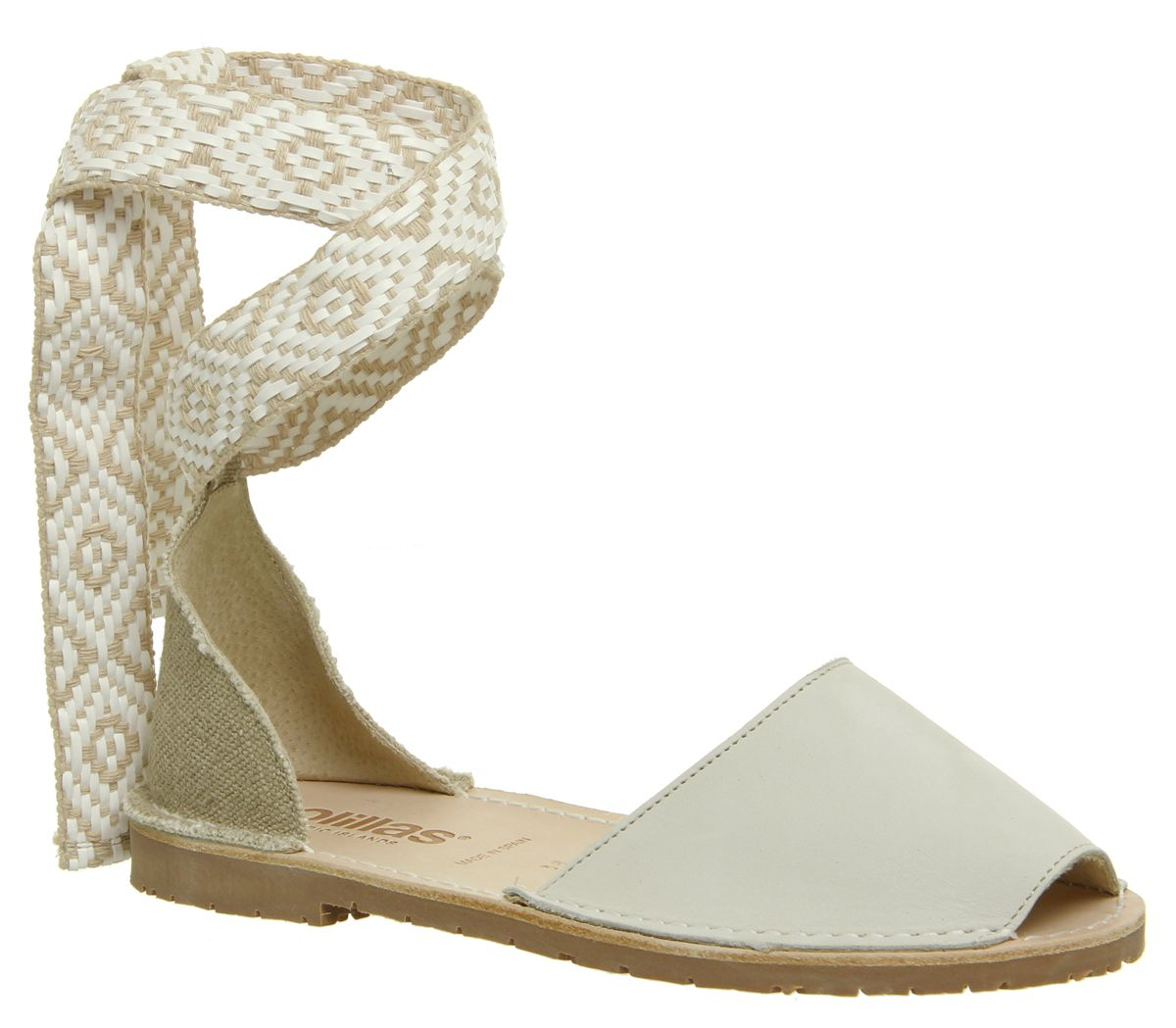 Solillas Solillas Wrap Tie Shoes, Nude