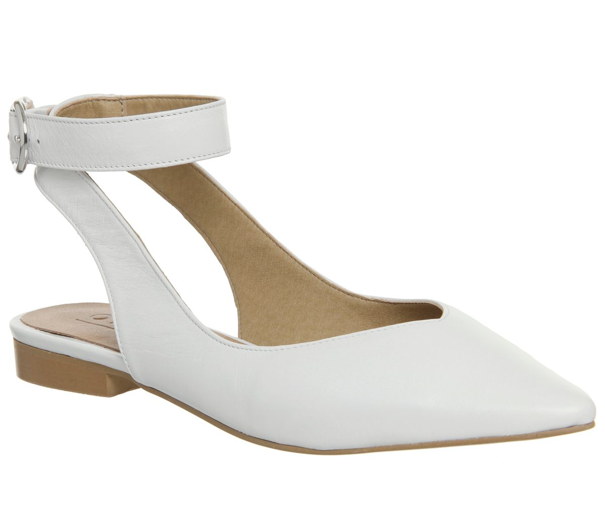 Office Finch Ankle Strap Points, White