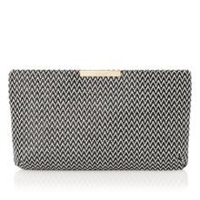 L.K. Bennett Flora zip top clutch bag