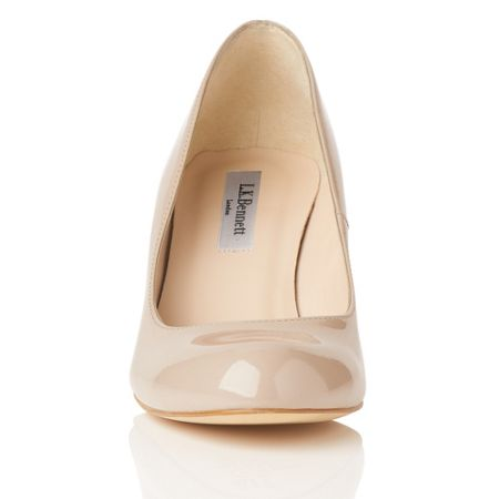 L.K. Bennett Opal round toe court shoes