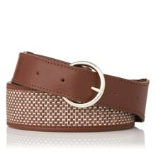 L.K. Bennett Brooke round buckle belt