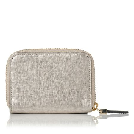 L.K. Bennett Rea small zip card case