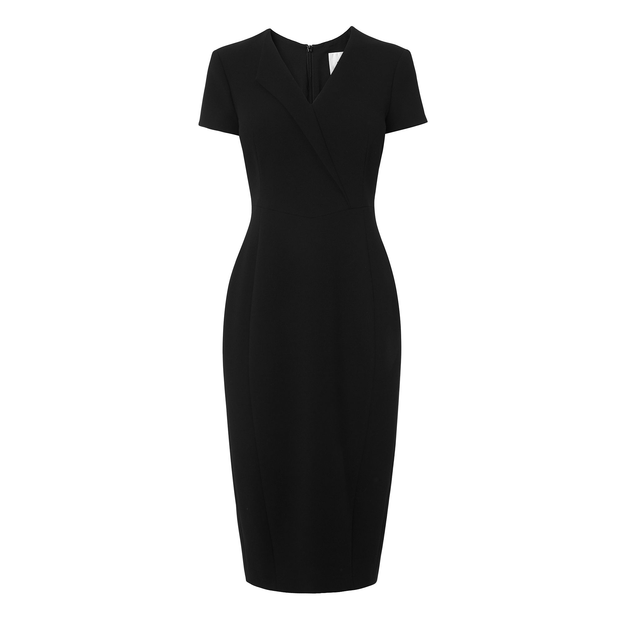 L.K. Bennett Eline Polyester Viscose Elastane Dress, Black