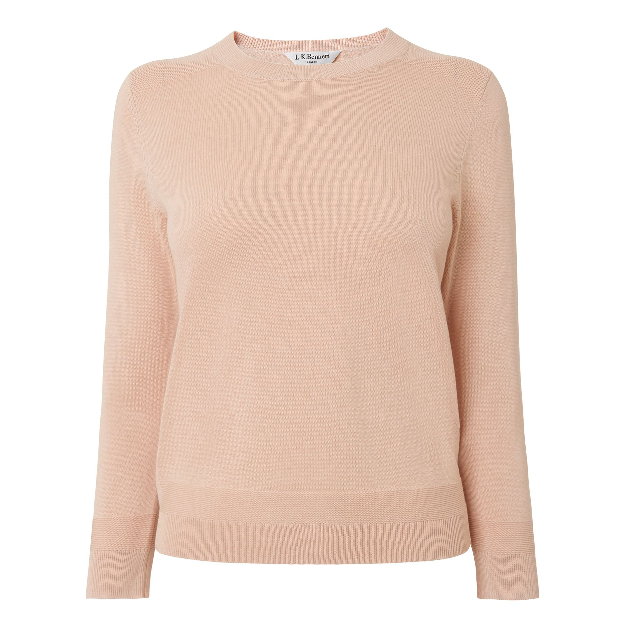 L.K. Bennett Maisy Silk Cotton Knitted Tops, Pink