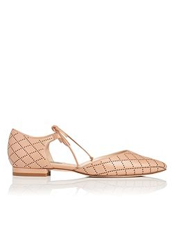 Mikaila nappa leather flats