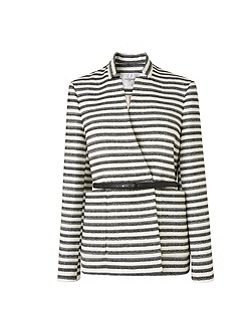 Cora Monochrome Stripe Jacket