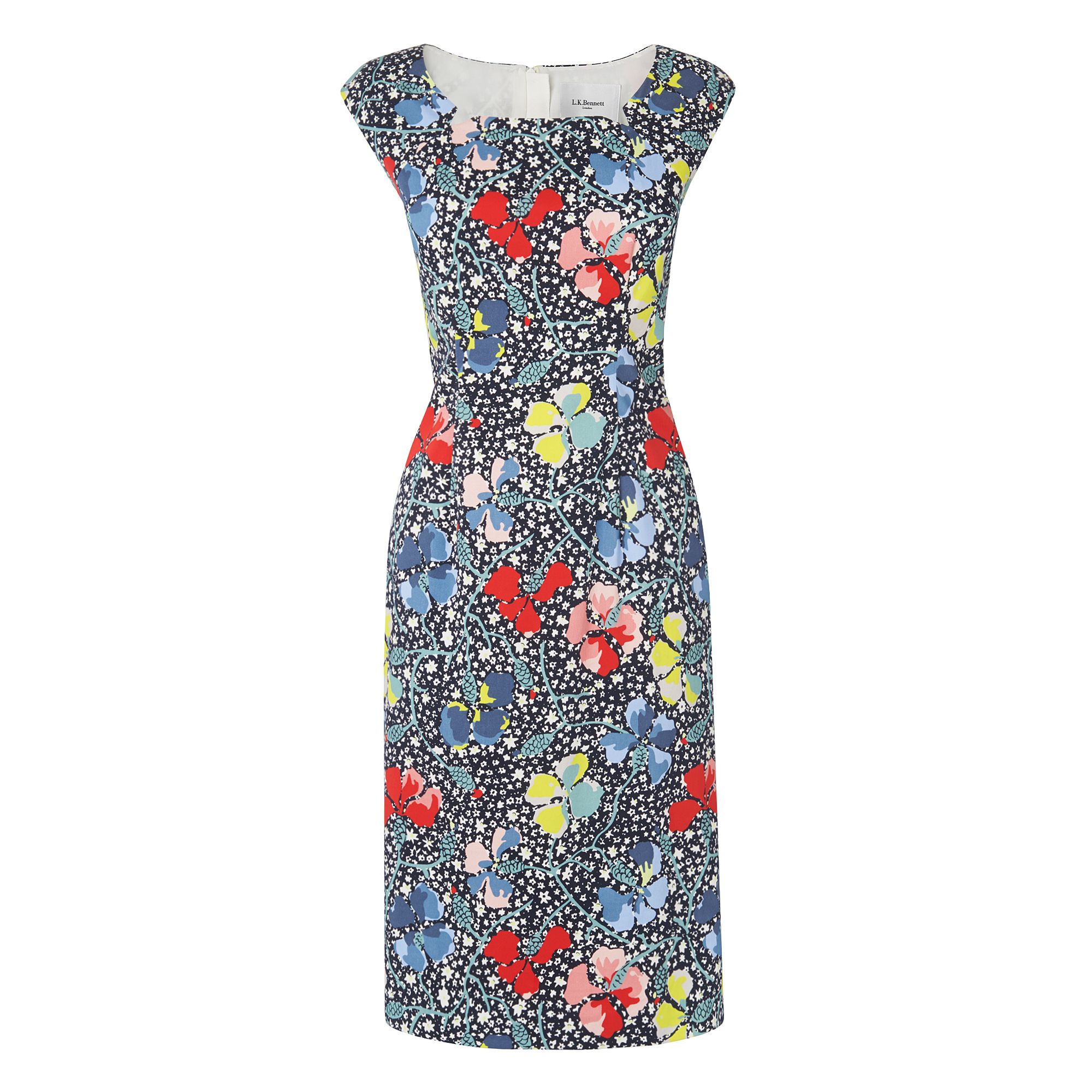 L.K. Bennett Phi Printed Dress Dresses, Multi-Coloured