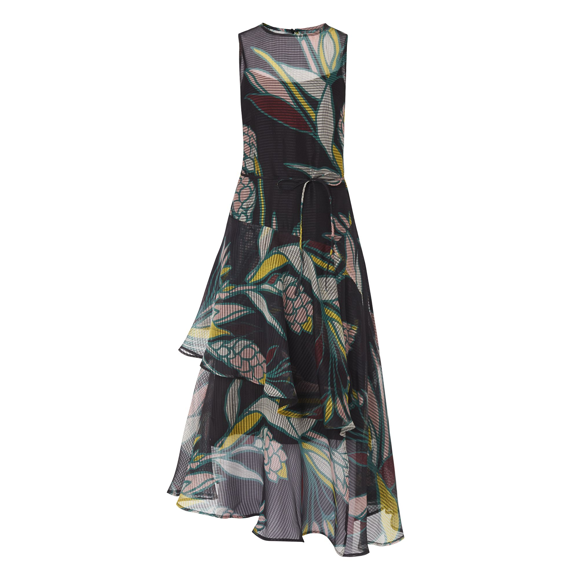 L.K. Bennett Kalia Geo Flowers Dress, Multi-Coloured