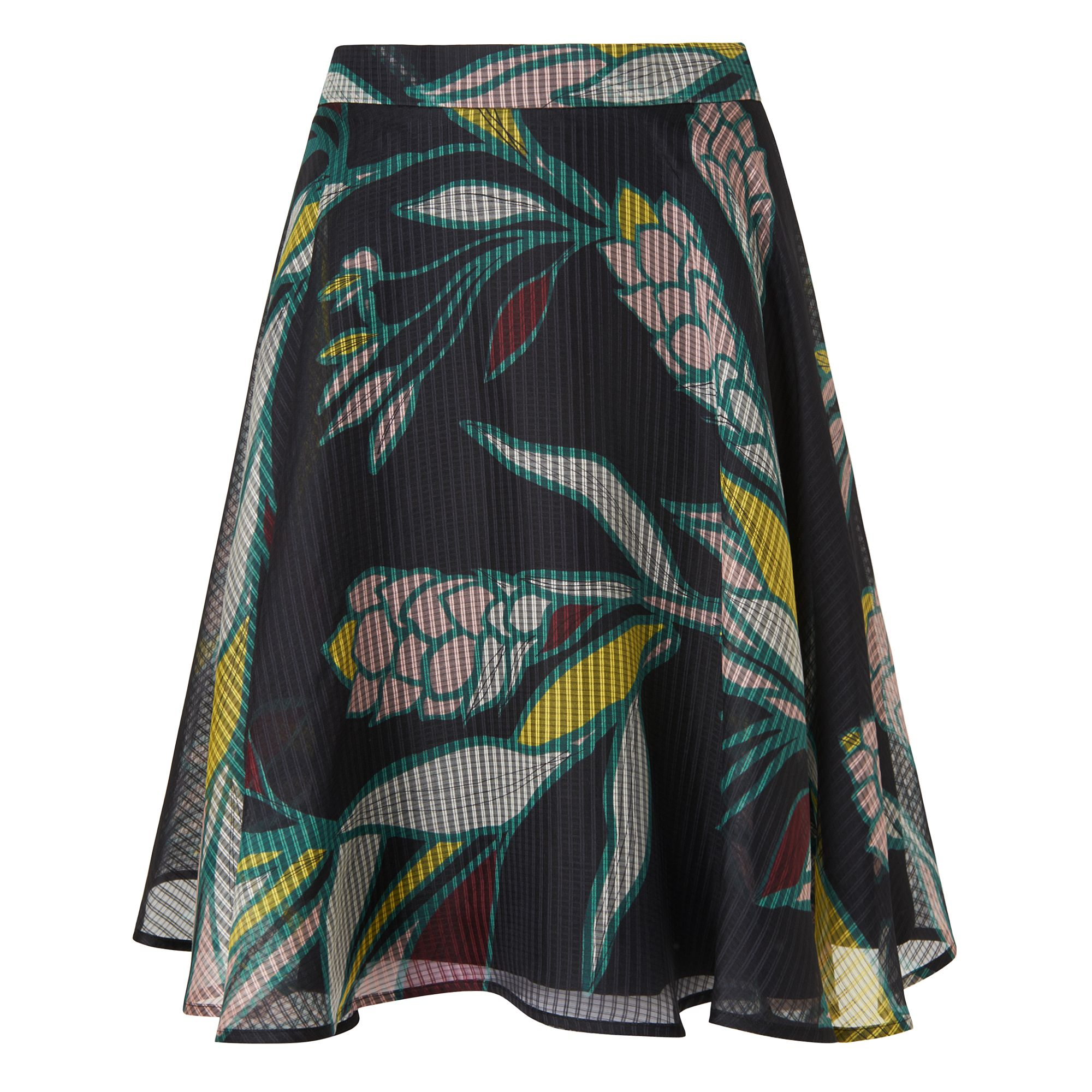 L.K. Bennett Kalia Geo Flowers Skirt, Multi-Coloured