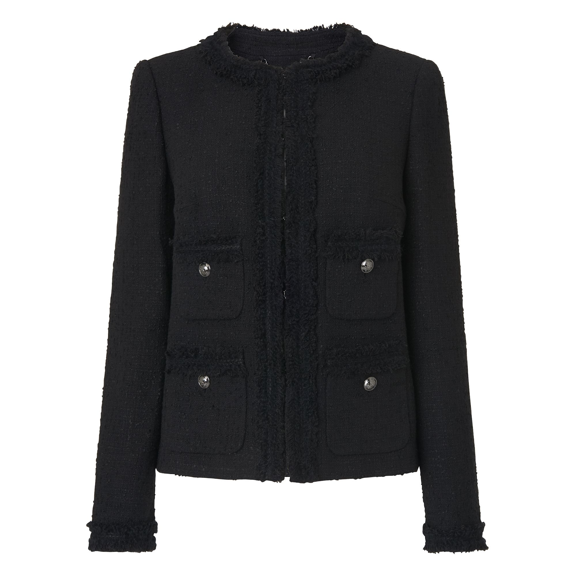 L.K. Bennett Charl Cotton Mix Jackets, Black