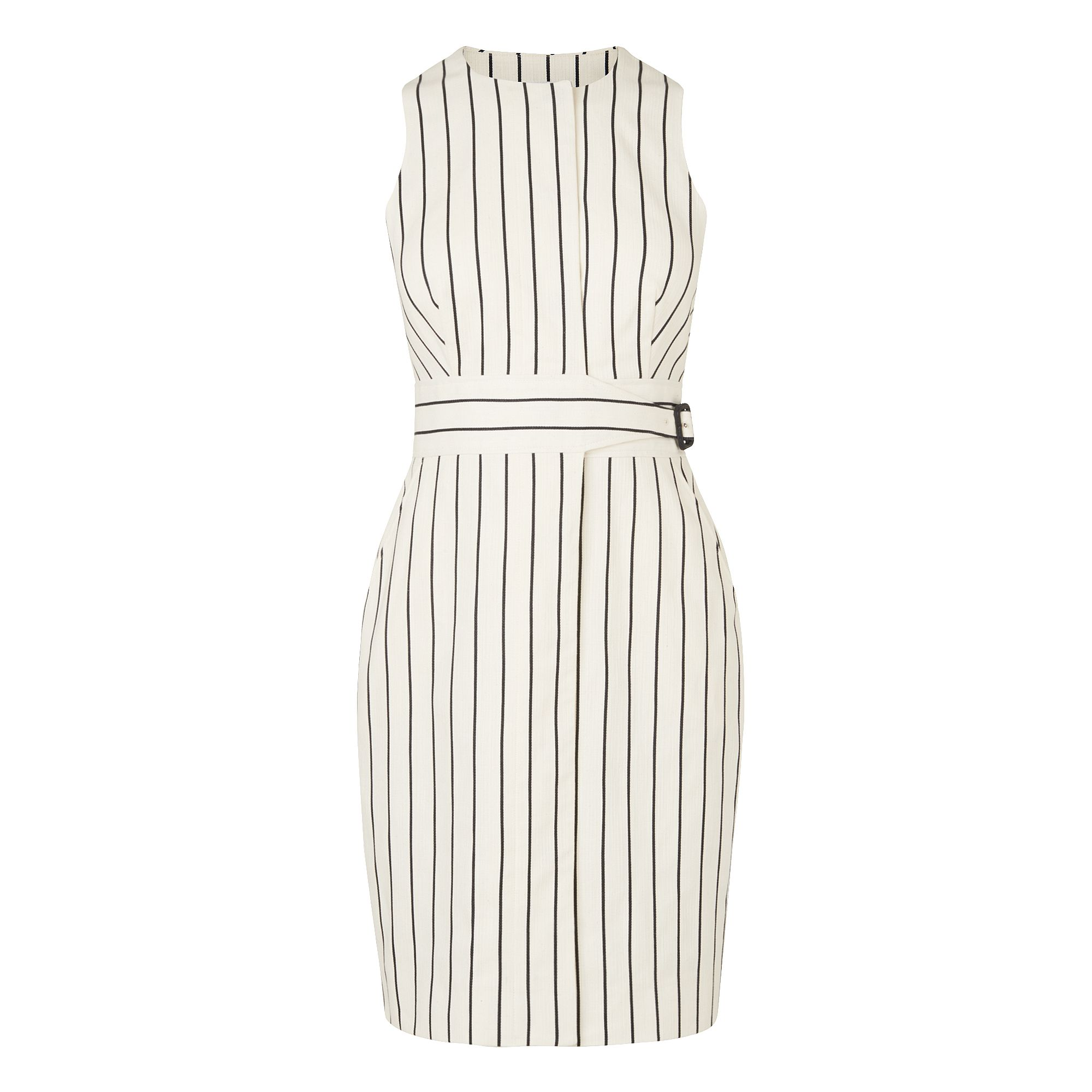 L.K. Bennett Jenna Stripe Detail Dress, White