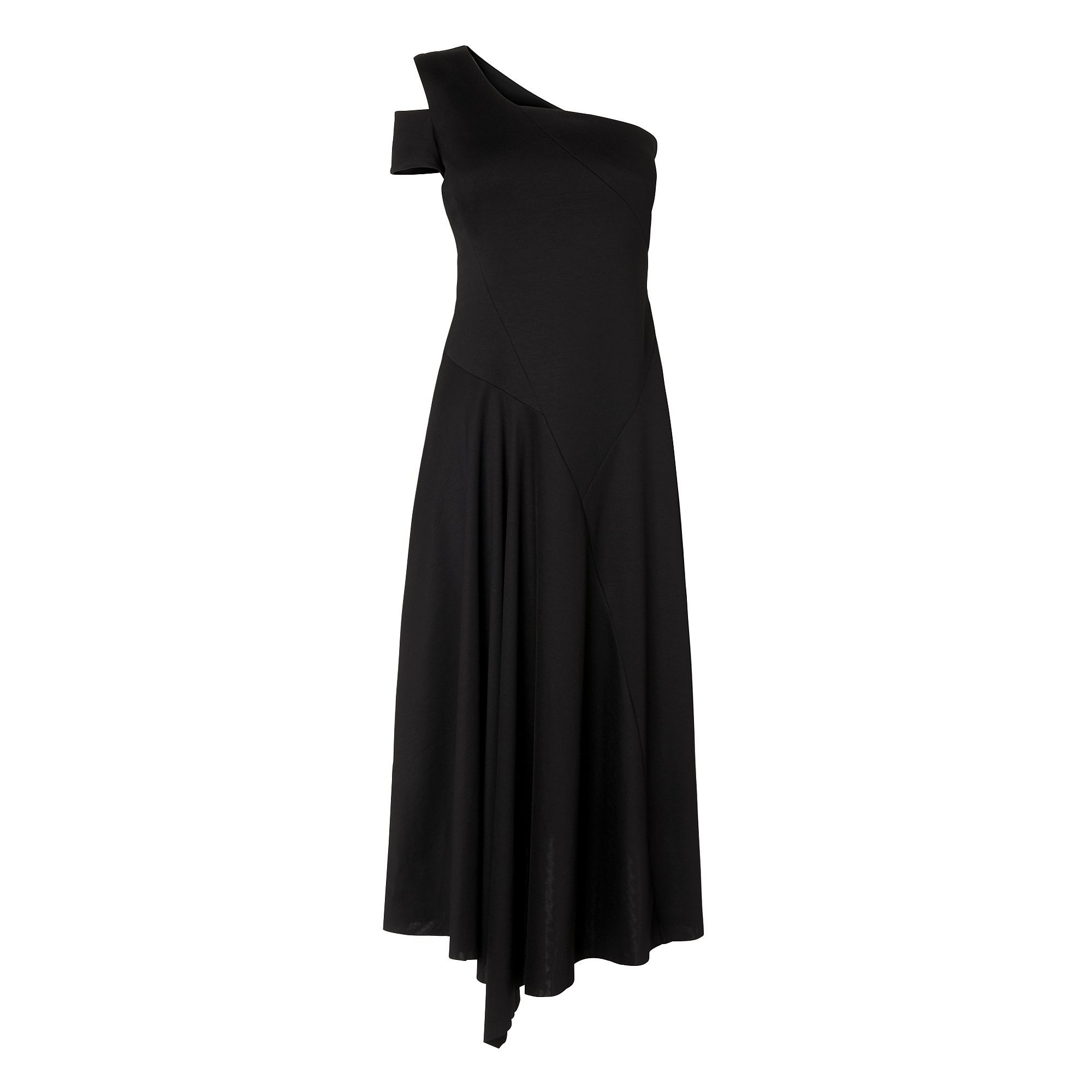 L.K. Bennett Lavendar Asymetric Dress, Black
