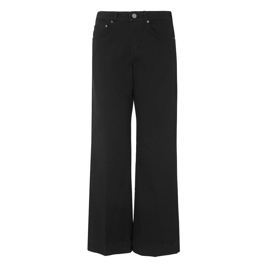 L.K. Bennett Alexis Flared Crop Trousers, Black