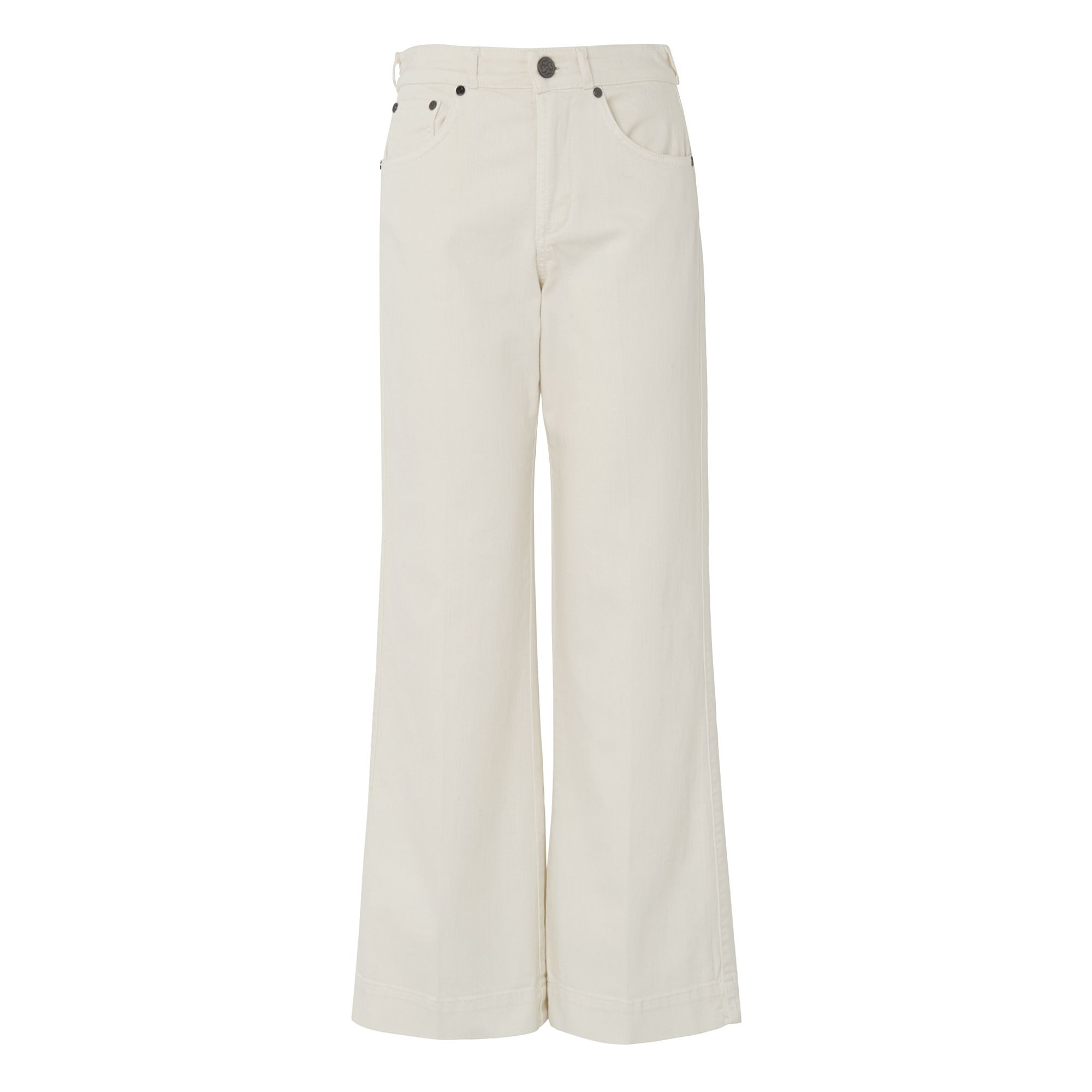 L.K. Bennett Alexis Flared Crop Trousers, Cream