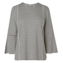 L.K. Bennett Leonie Stripe Fluted Top