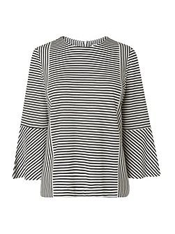 Leonie Stripe Fluted Top