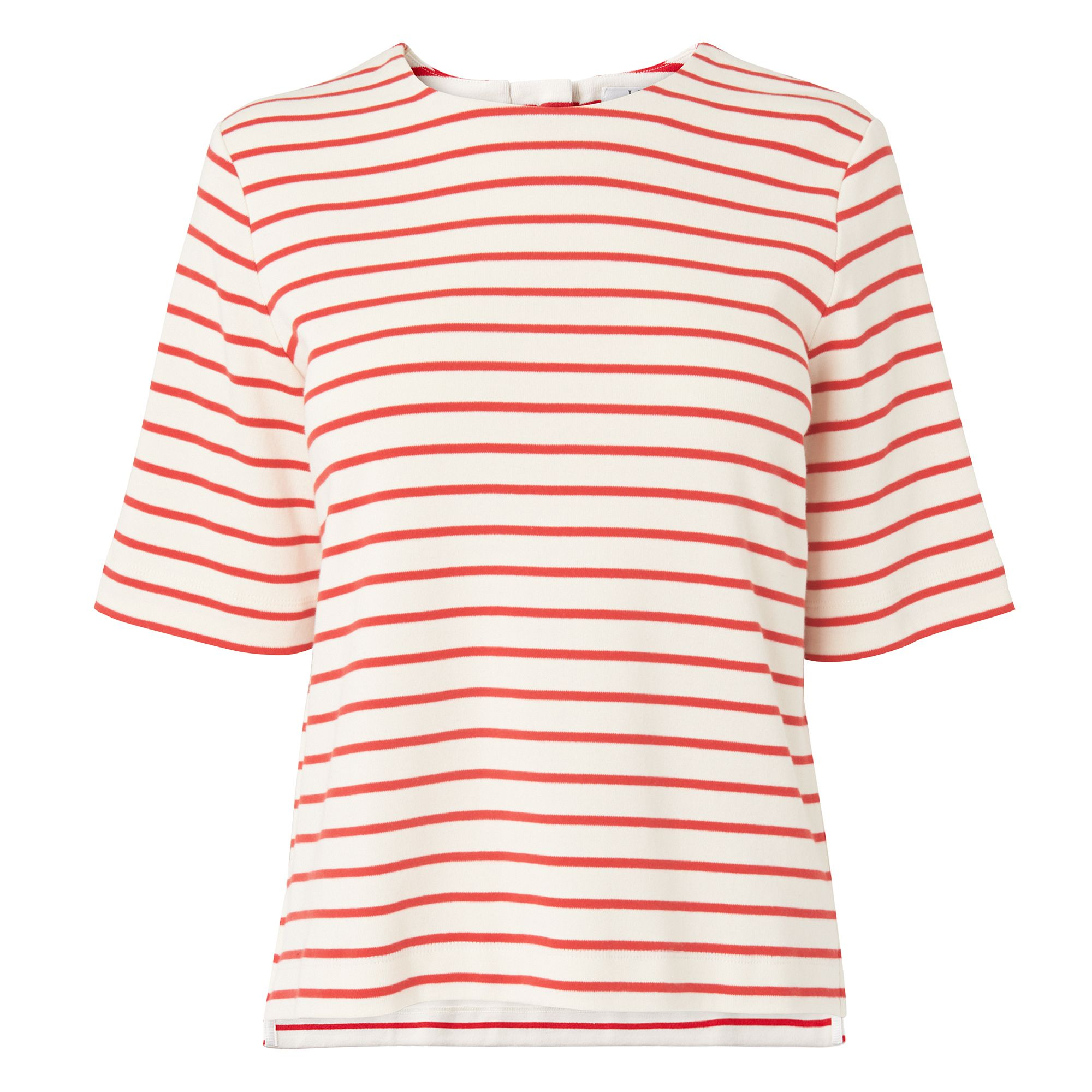 L.K. Bennett Ana Stripe Box Jersey Tops, Red