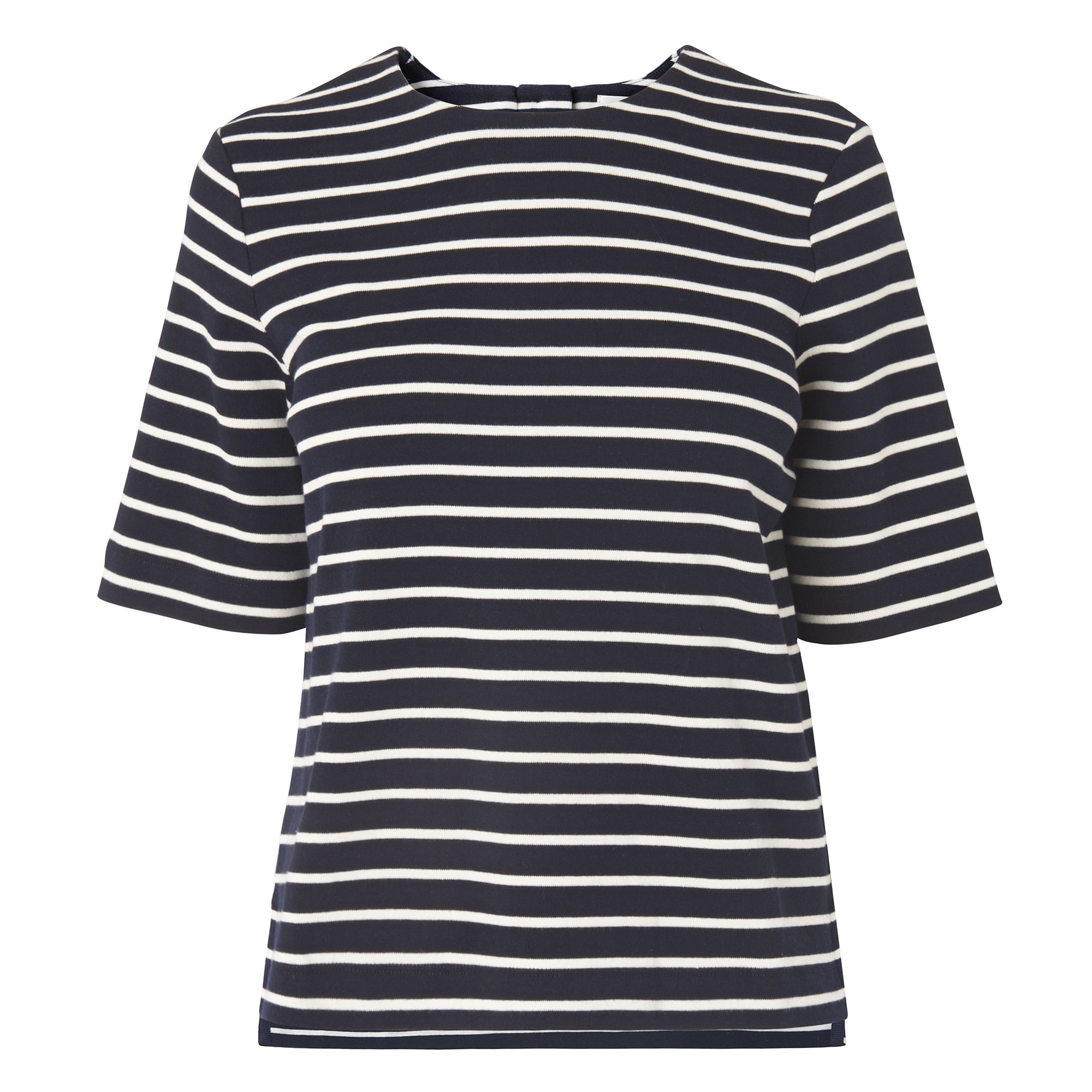 L.K. Bennett Ana Stripe Box Jersey Tops, Blue