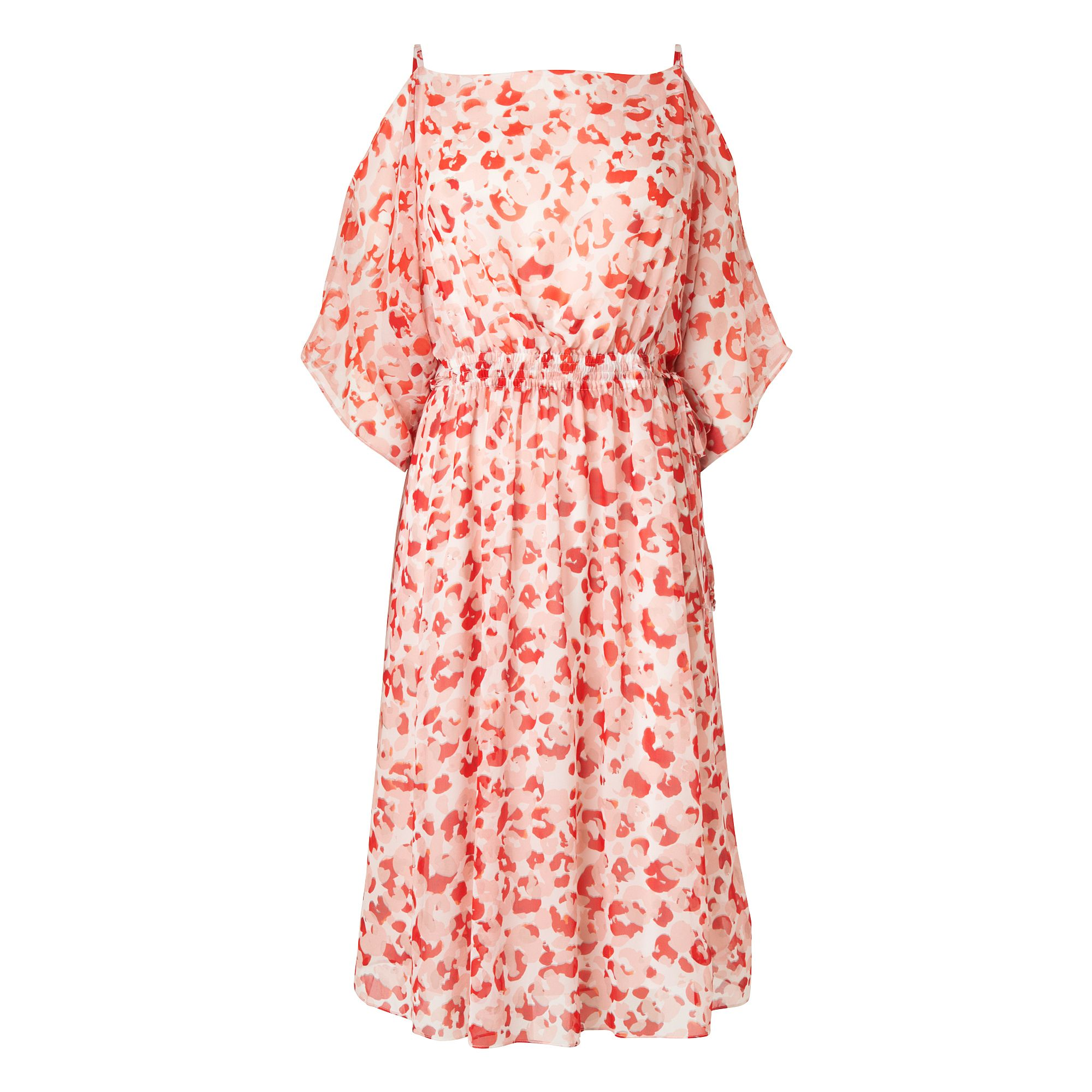 L.K. Bennett Marnie Silk Printed Dresses, Red