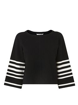 Langley Stripe Sleeve Knitted Top