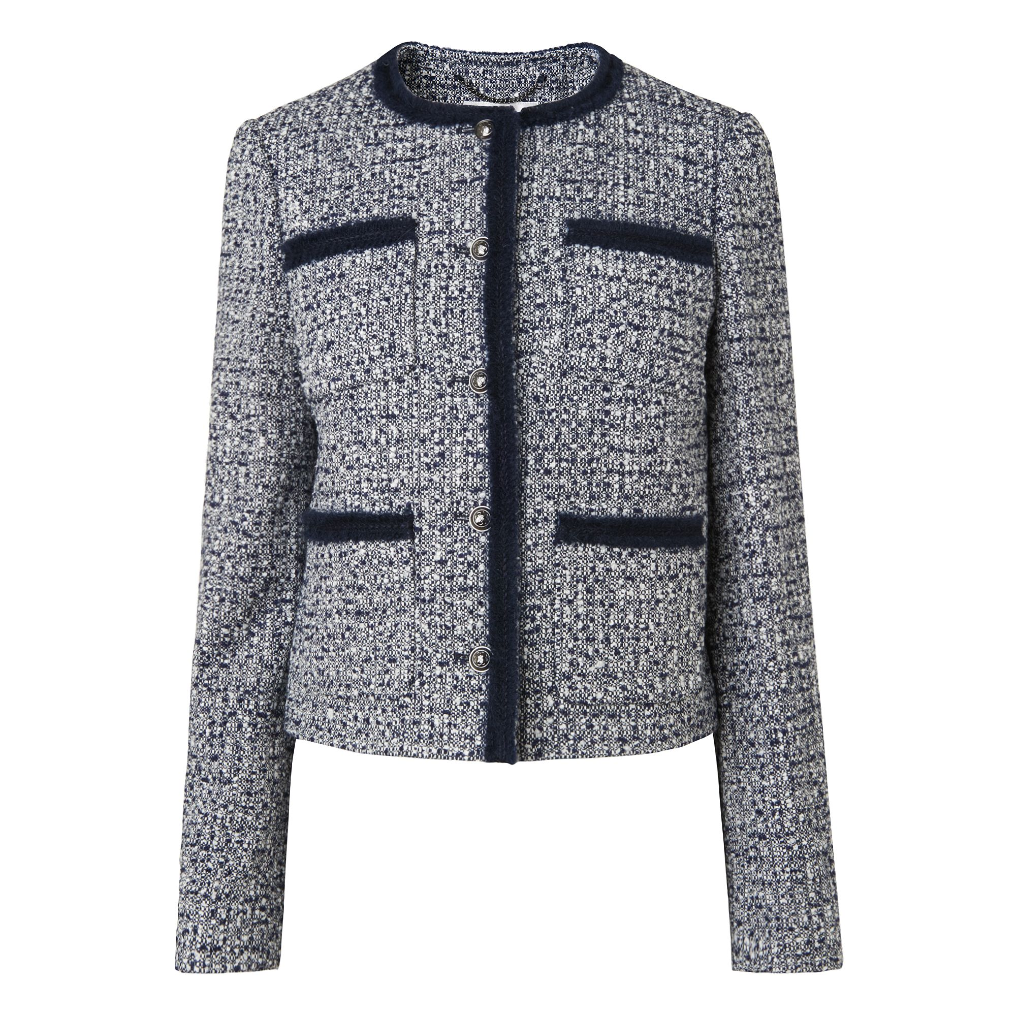 L.K. Bennett Astrala Short Tweed Jackets, Multi-Coloured