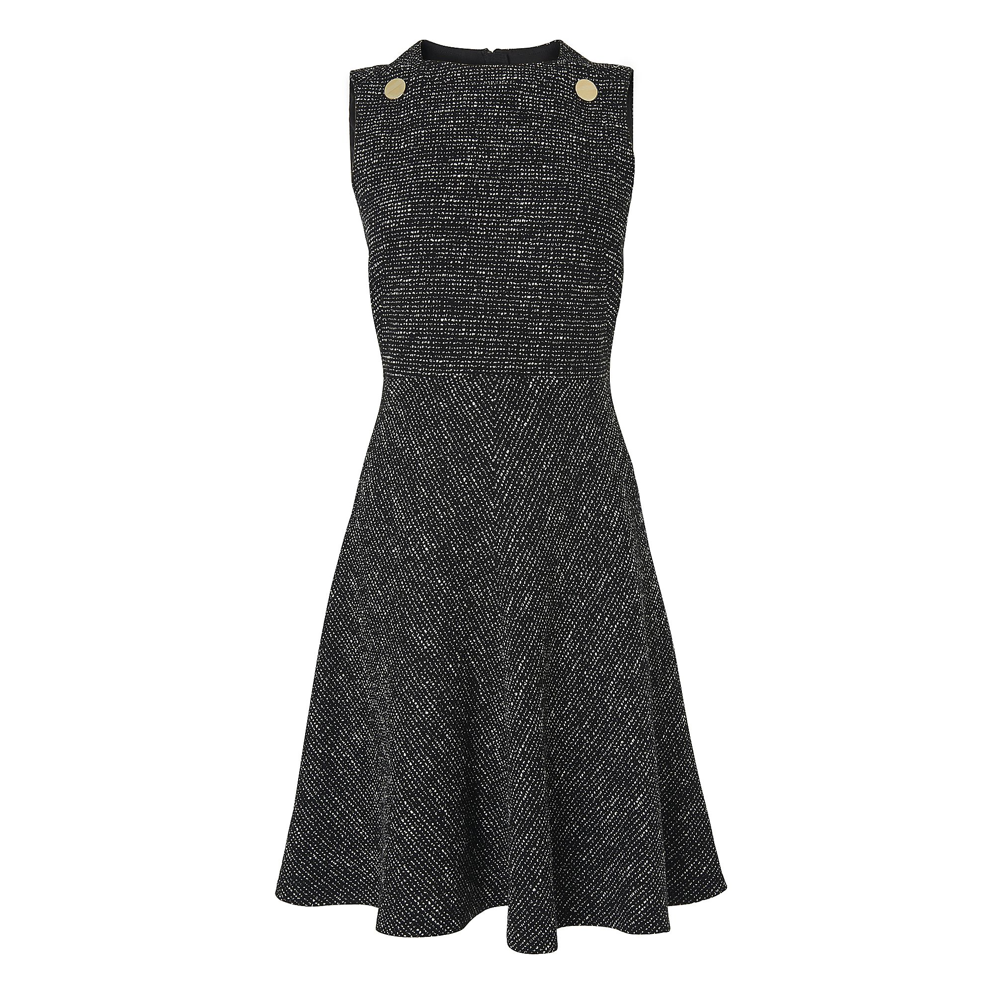L.K. Bennett Shelby Tweed Dress, Black