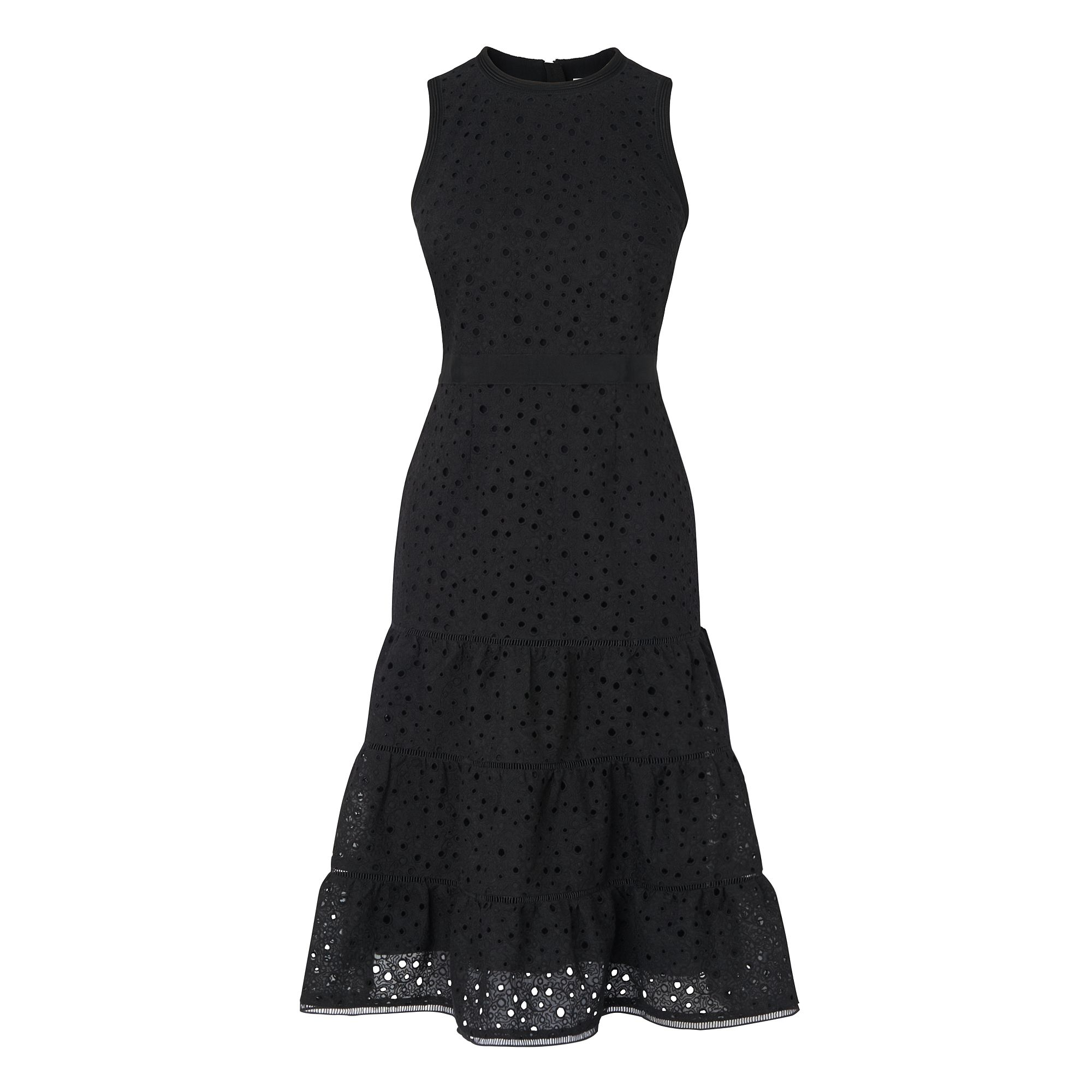 L.K. Bennett Beda Broderie Dress, Black