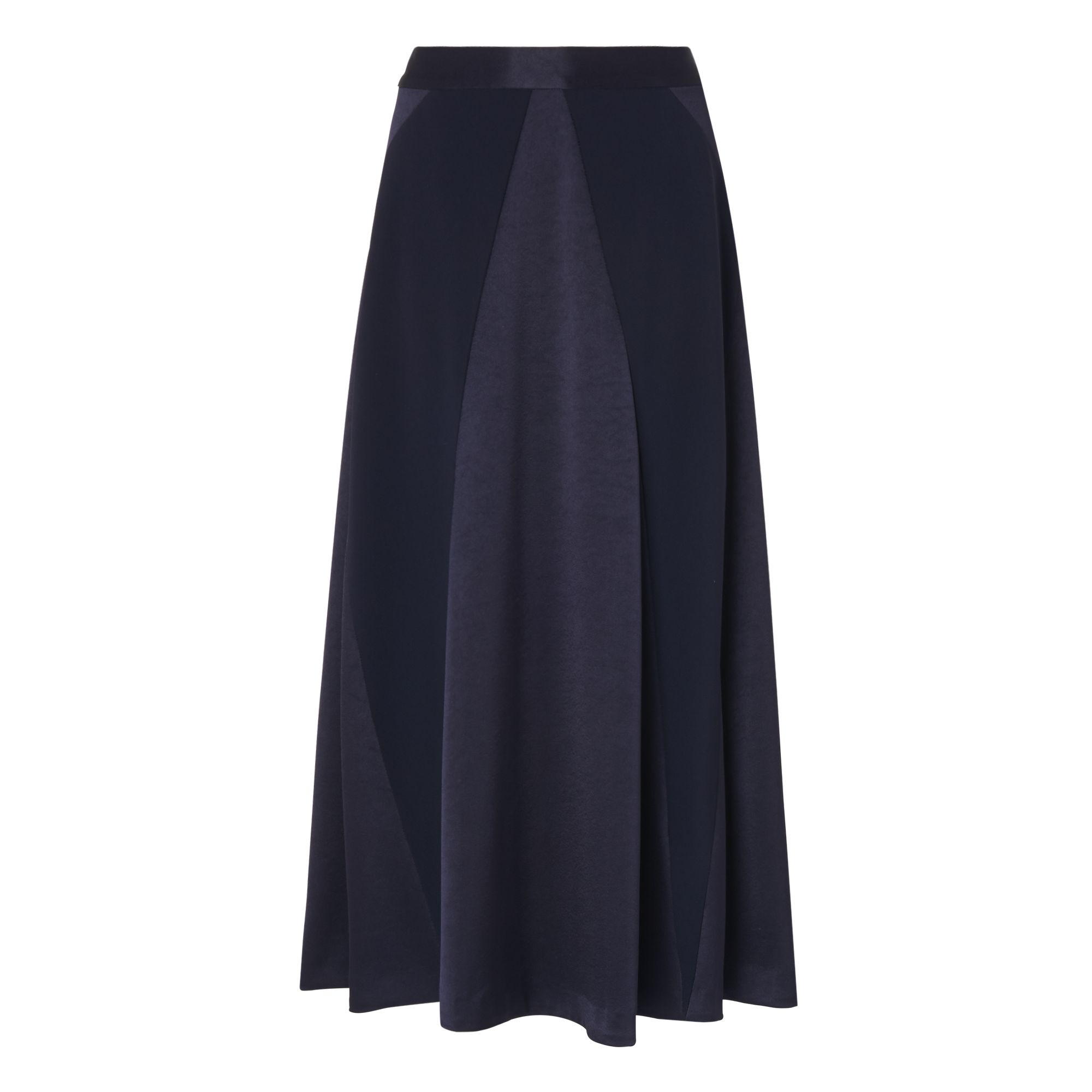 L.K. Bennett Babette Satin Back Skirt, Blue