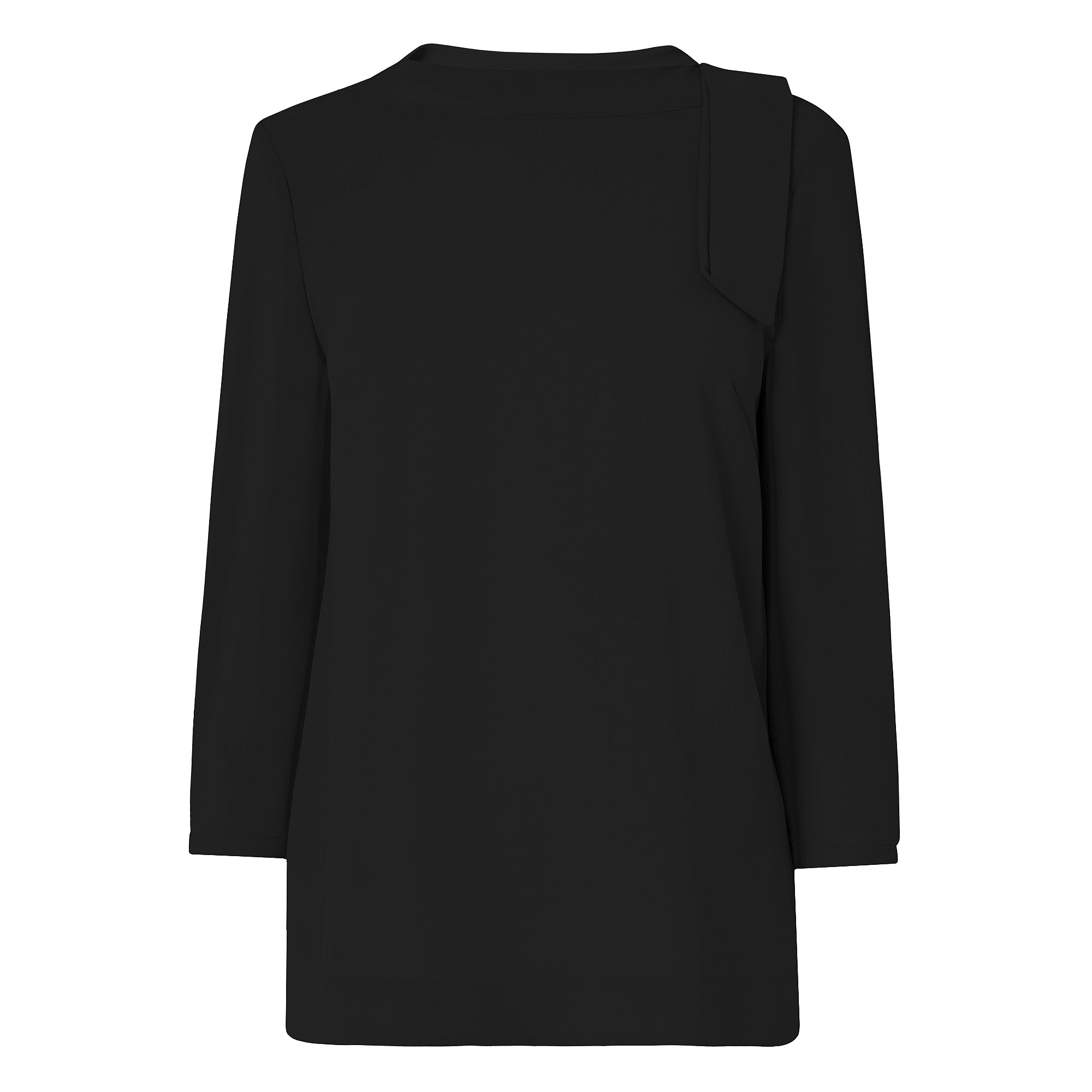 L.K. Bennett Hebe Black Woven Top, Black