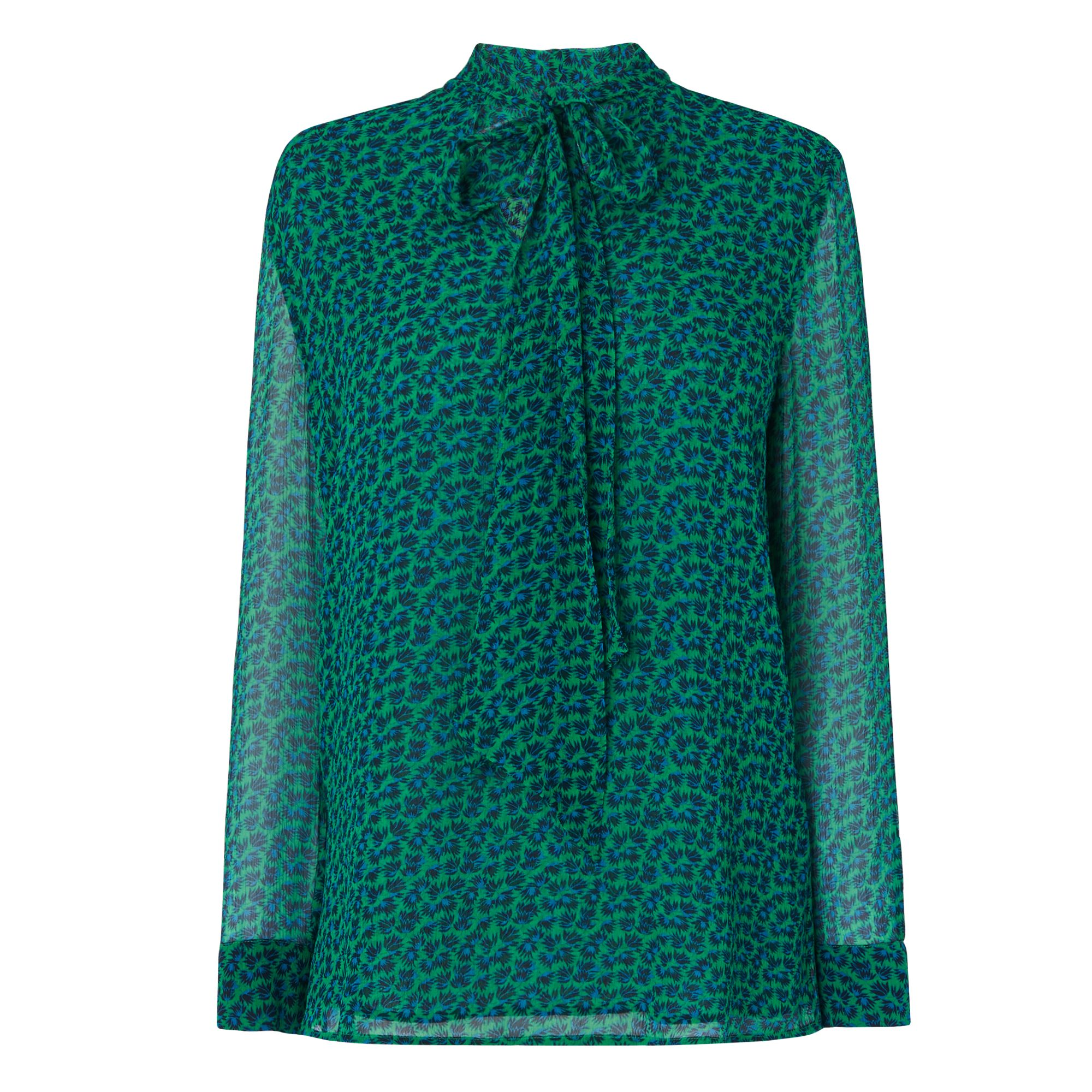 L.K. Bennett Rudy Printed Blouse Woven Top, Green