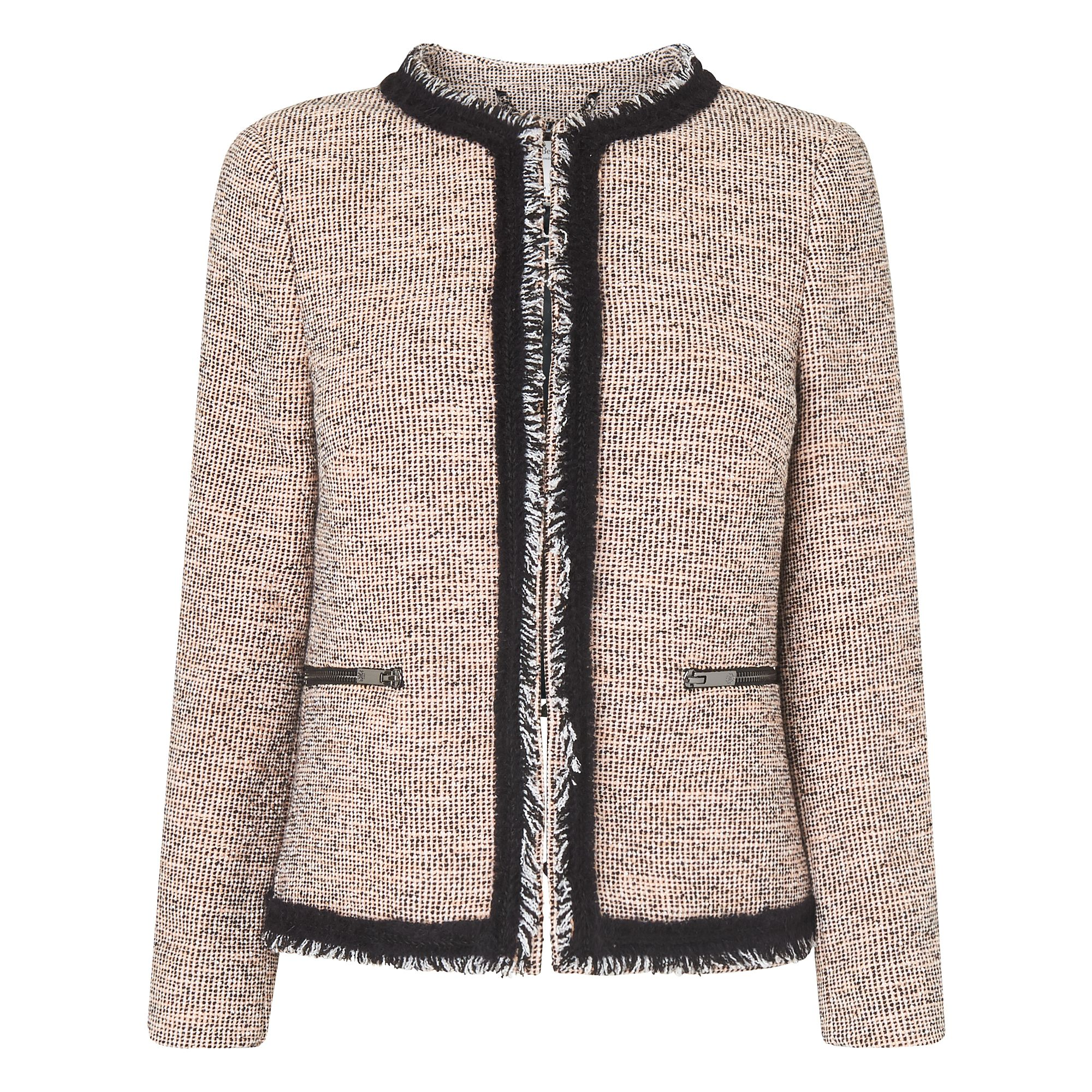 L.K. Bennett Gee Pink Tweed Jacket, Pink