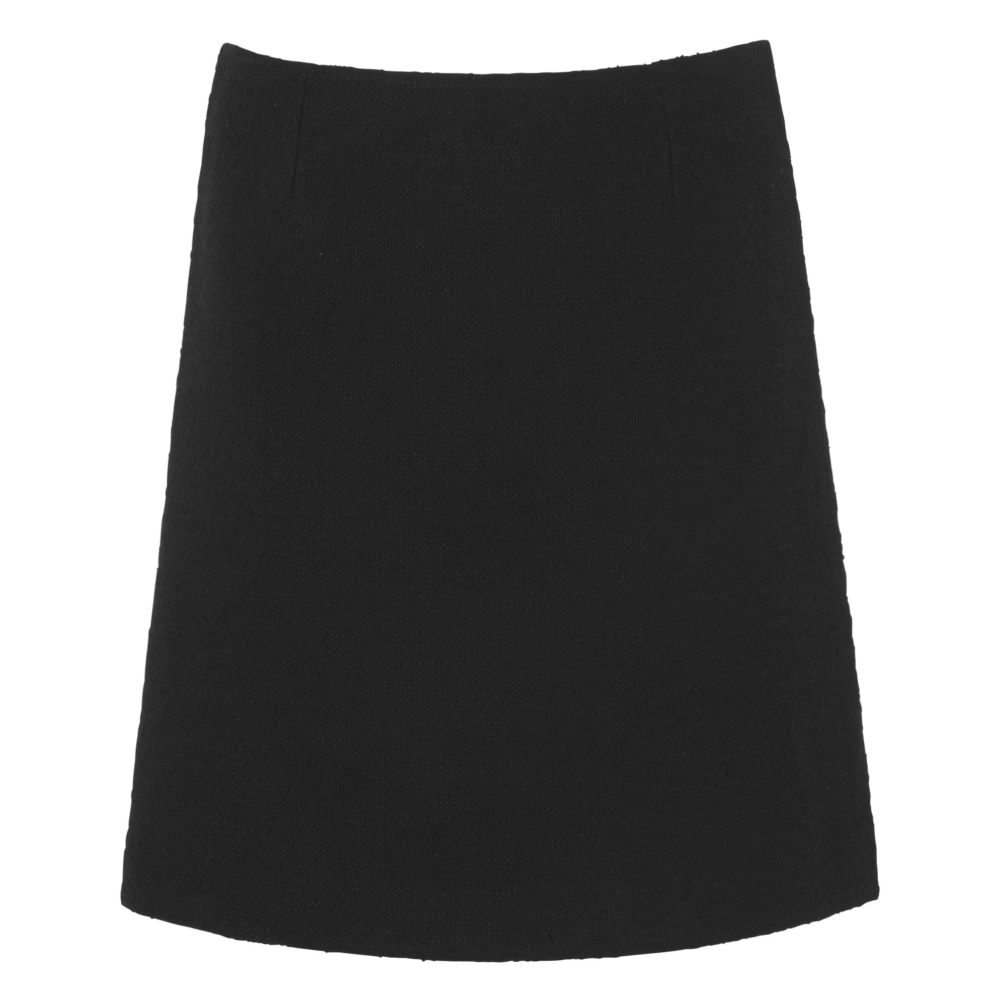 L.K. Bennett Gee Black Tweed Skirt, Black