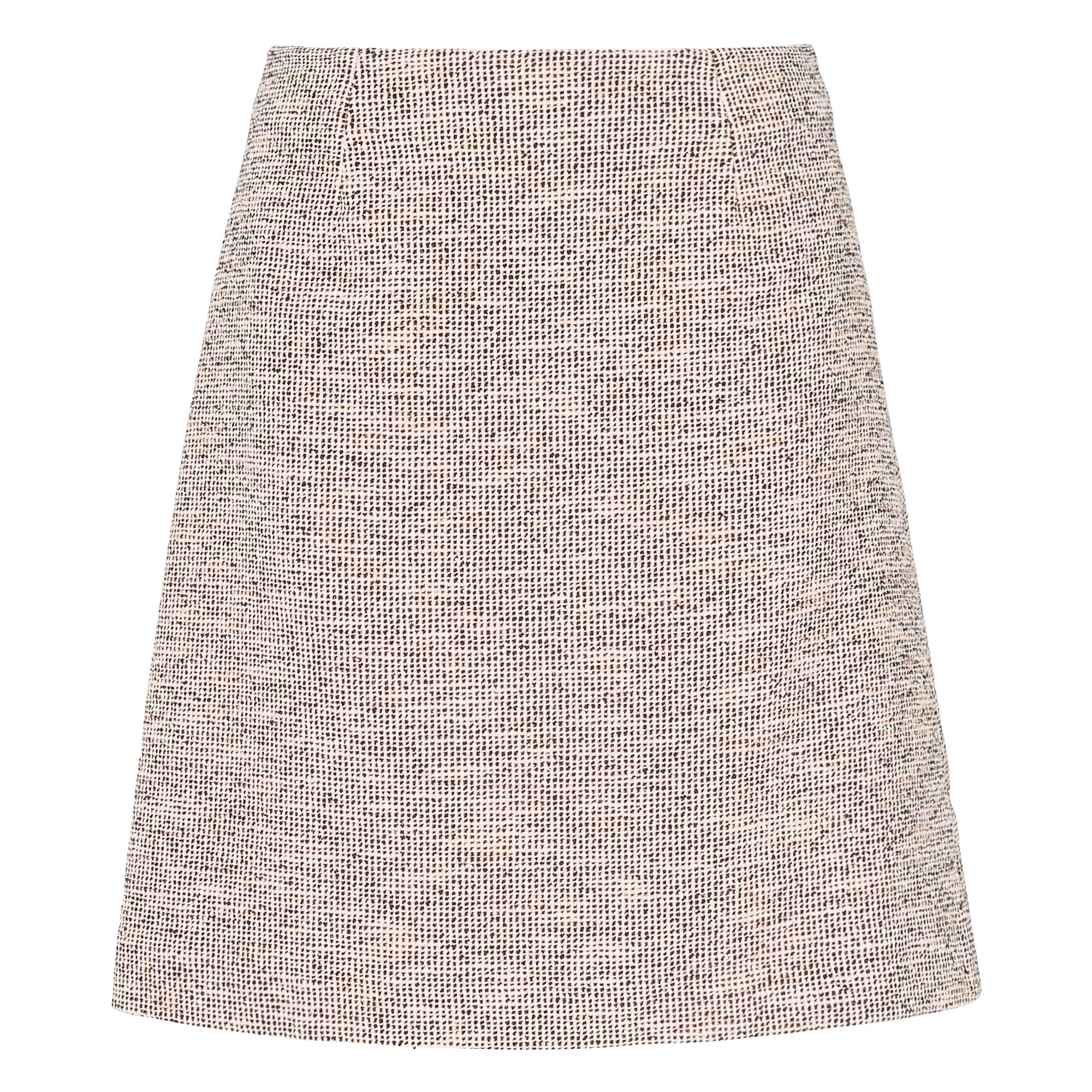 L.K. Bennett Gee Black Tweed Skirt, Pink