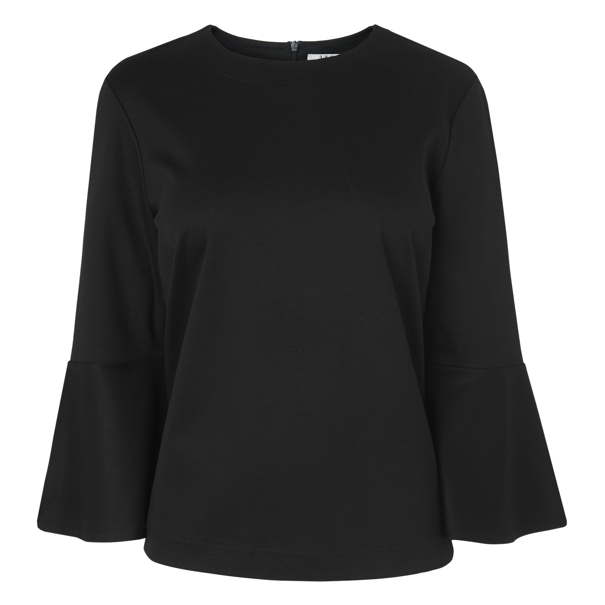 L.K. Bennett Leon Fluted Sleeve Top, Black