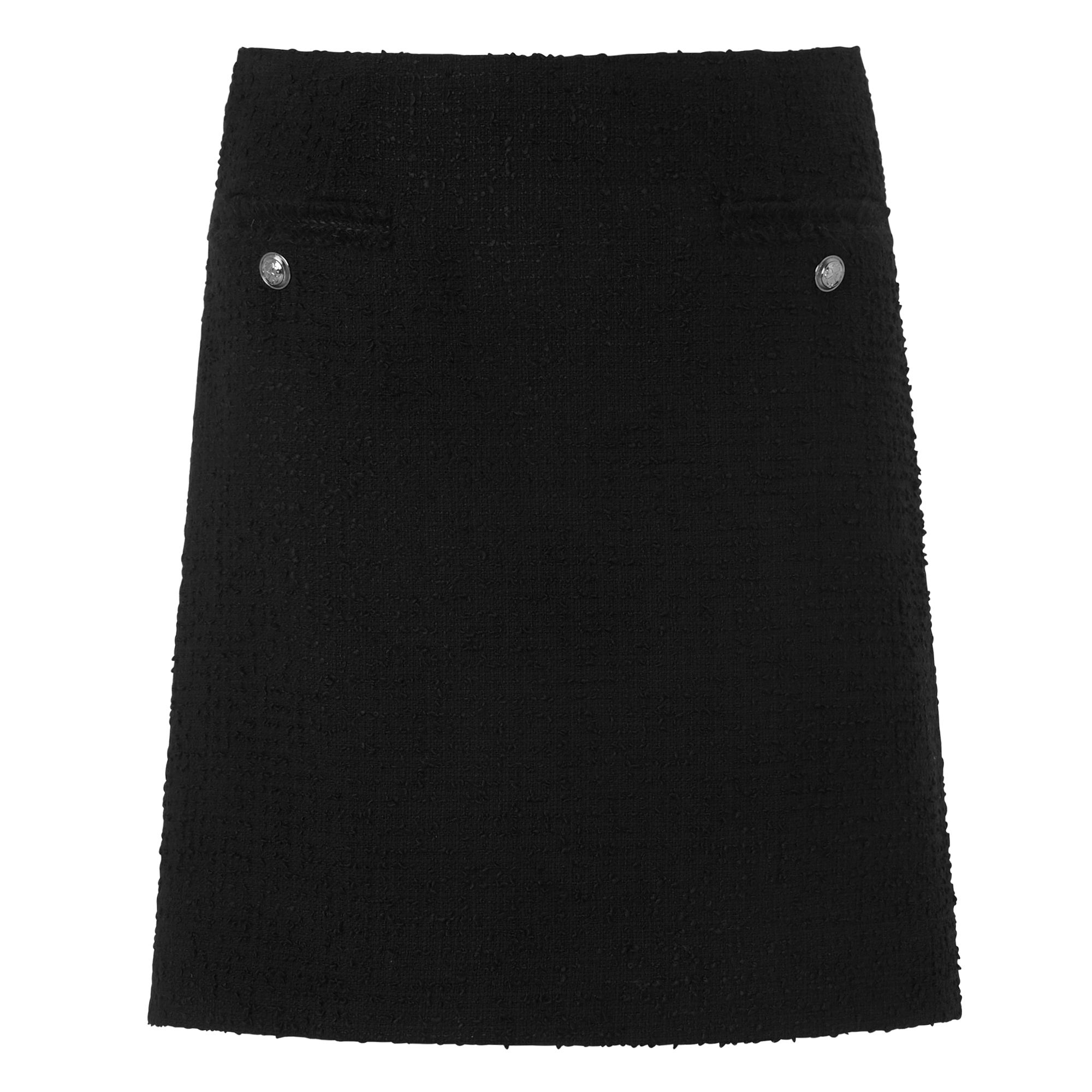 L.K. Bennett Charl Black Tweed Skirt, Black