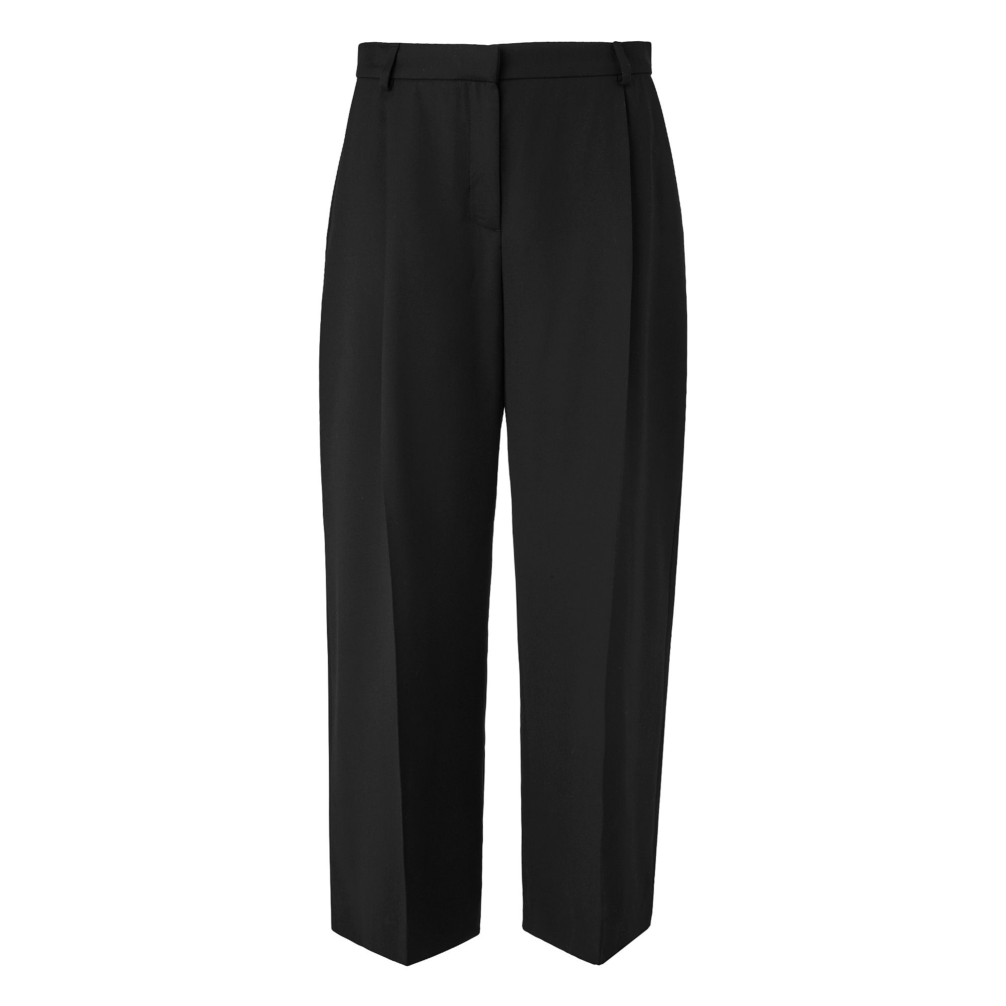 L.K. Bennett Elma Pleat Wide Leg Trousers, Black