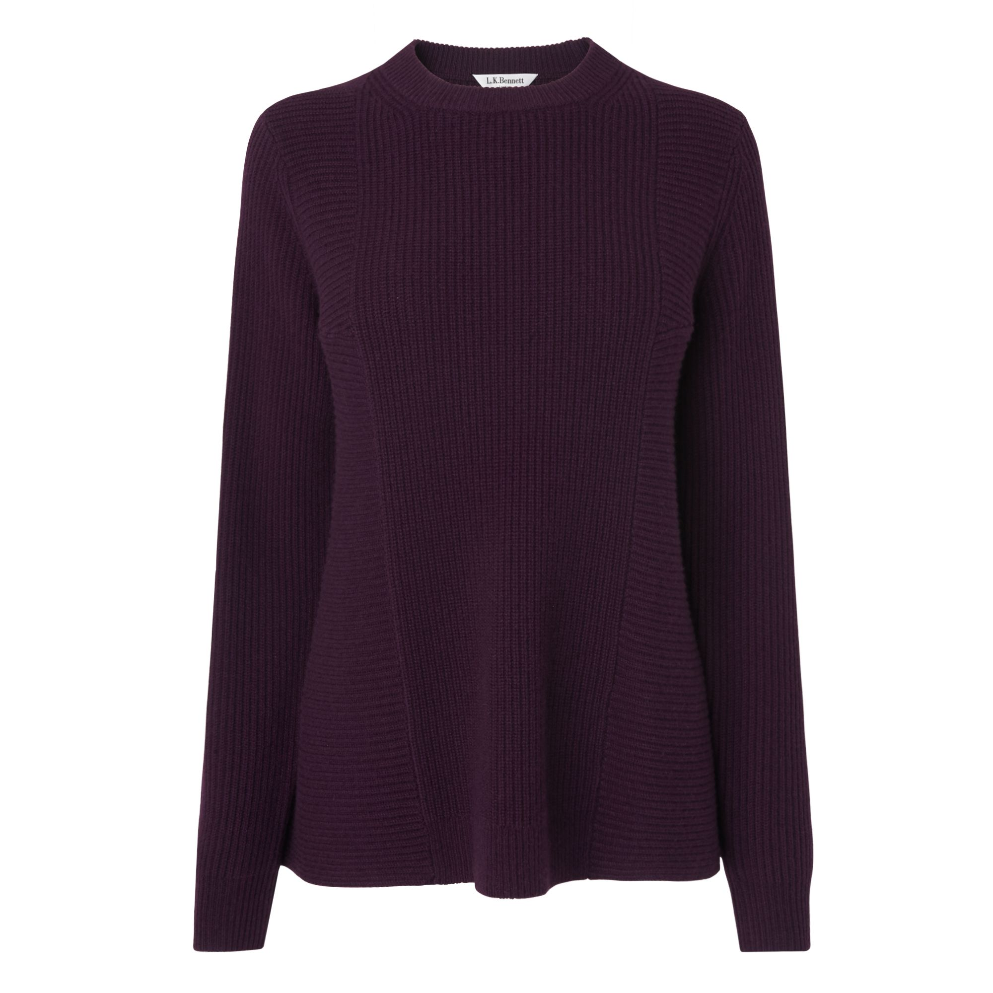 L.K.Bennett Alma Knitted Tops, Purple