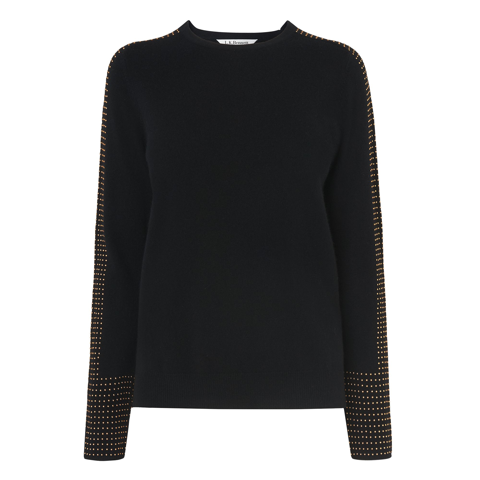 L.K.Bennett Adel Knitted Tops, Black