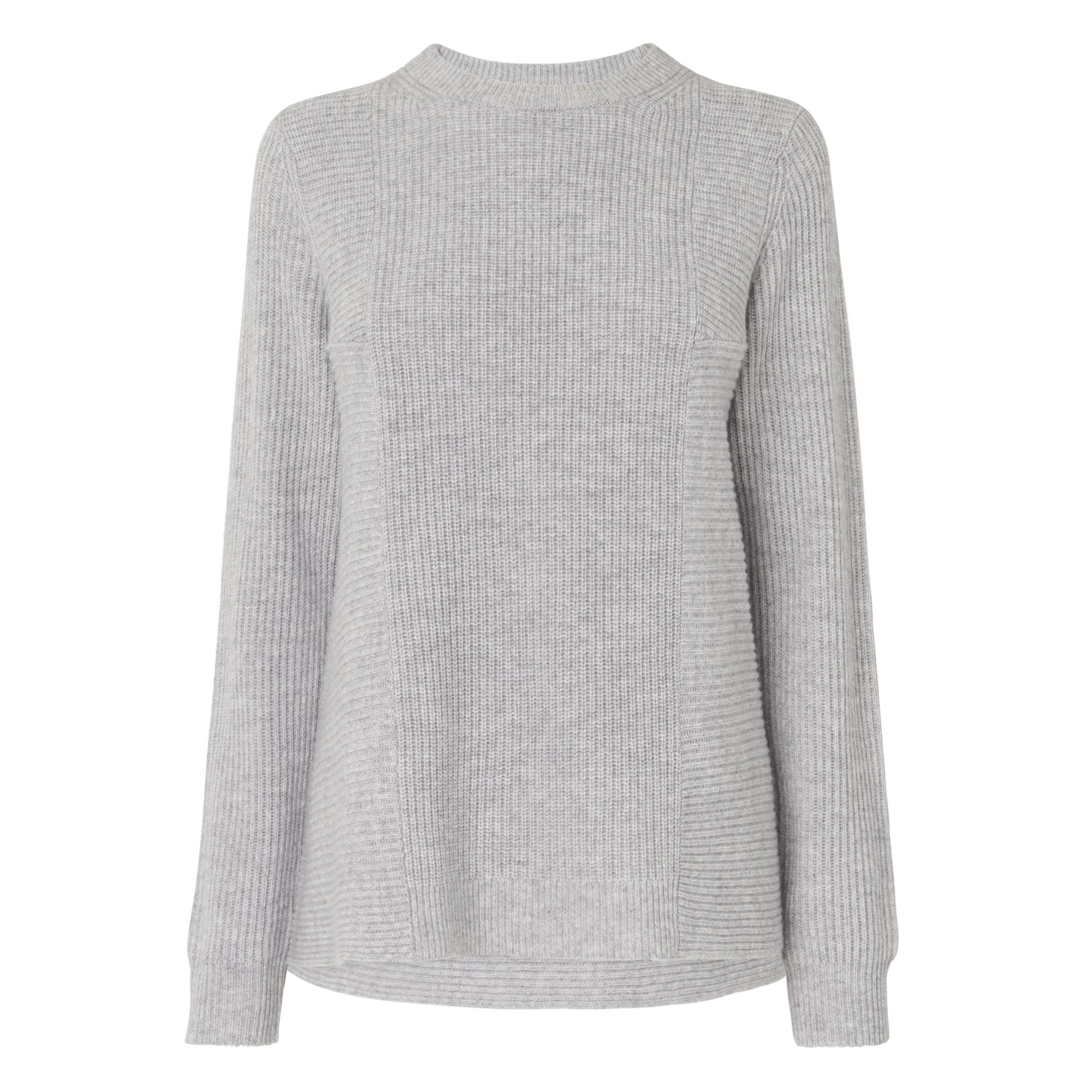 L.K.Bennett Alma Knitted Tops, Grey