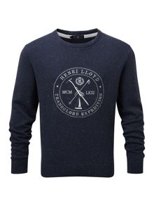 Henri Lloyd Mains regular crew neck knit