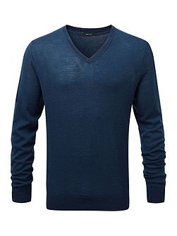 Kinton fitted v neck knit