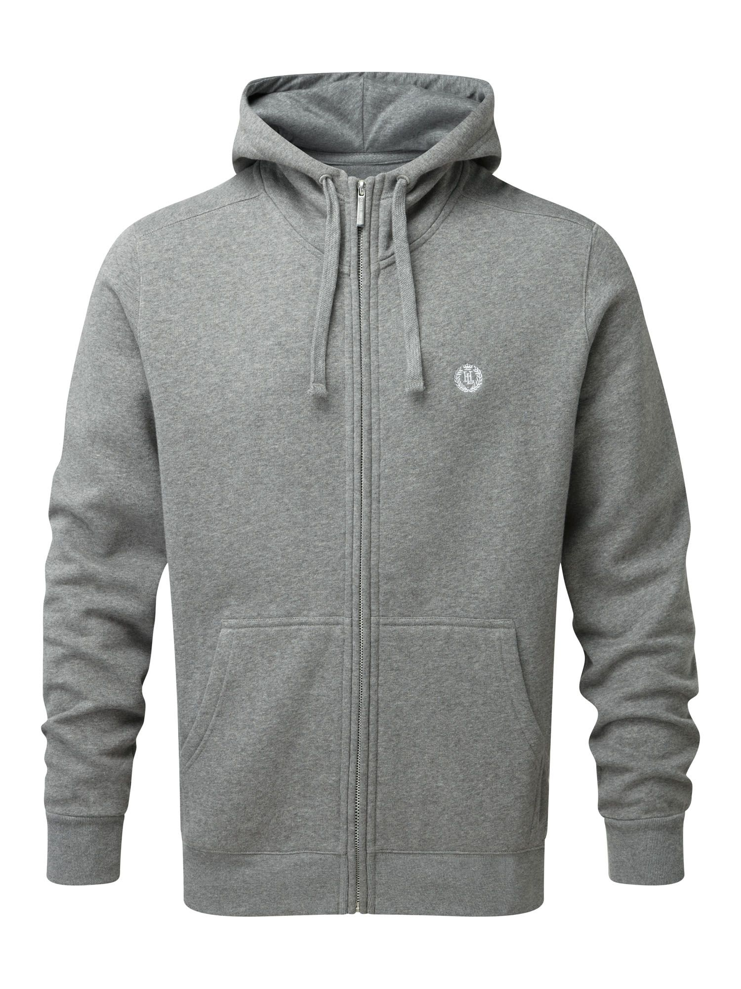 Men's Henri Lloyd Bredgar Hooded Full Zip Sweat, Grey