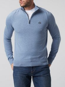 Henri Lloyd Moray Regular Half Zip Knit Jumper