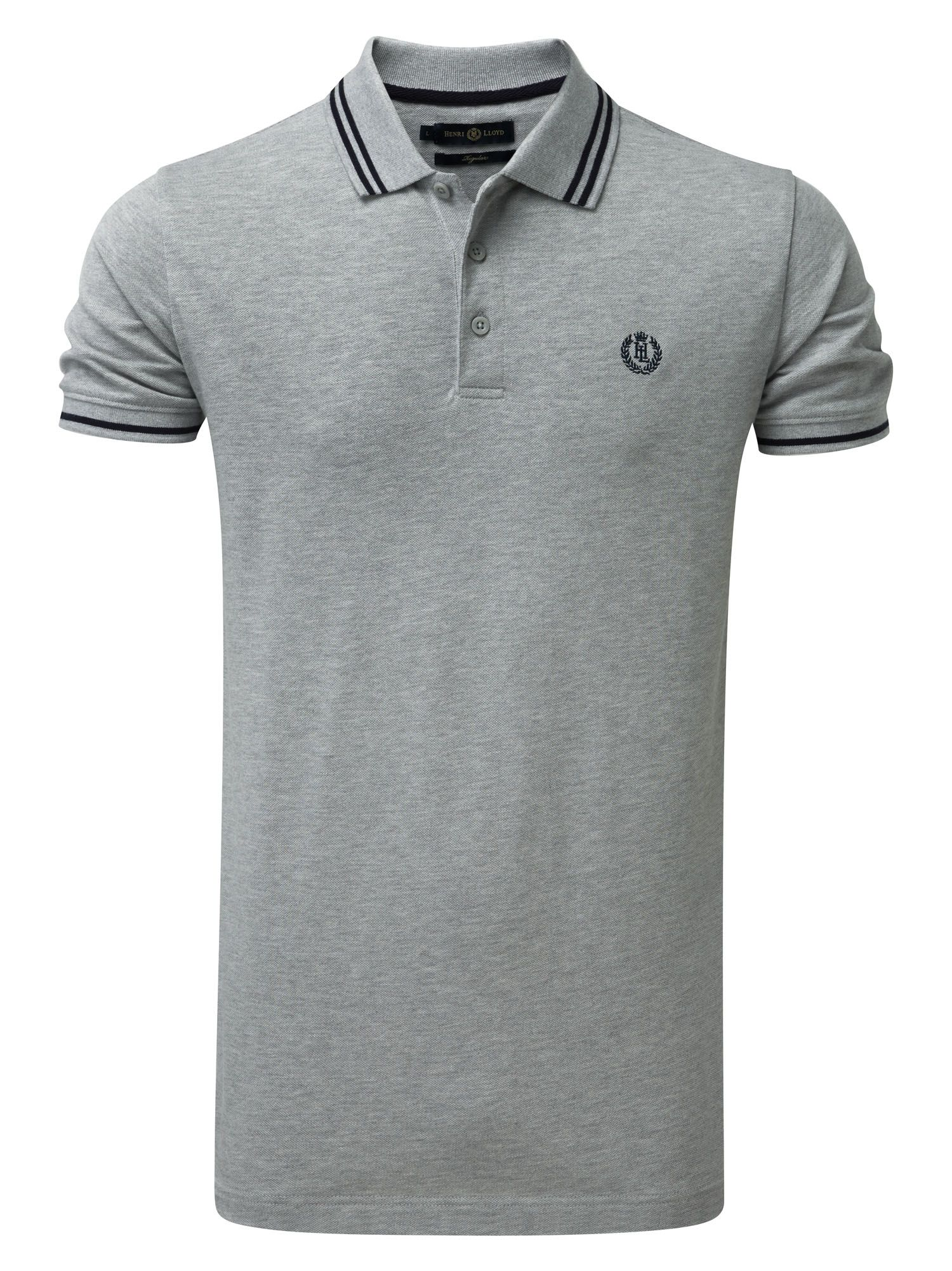Men's Henri Lloyd Byron Regular Polo, Grey