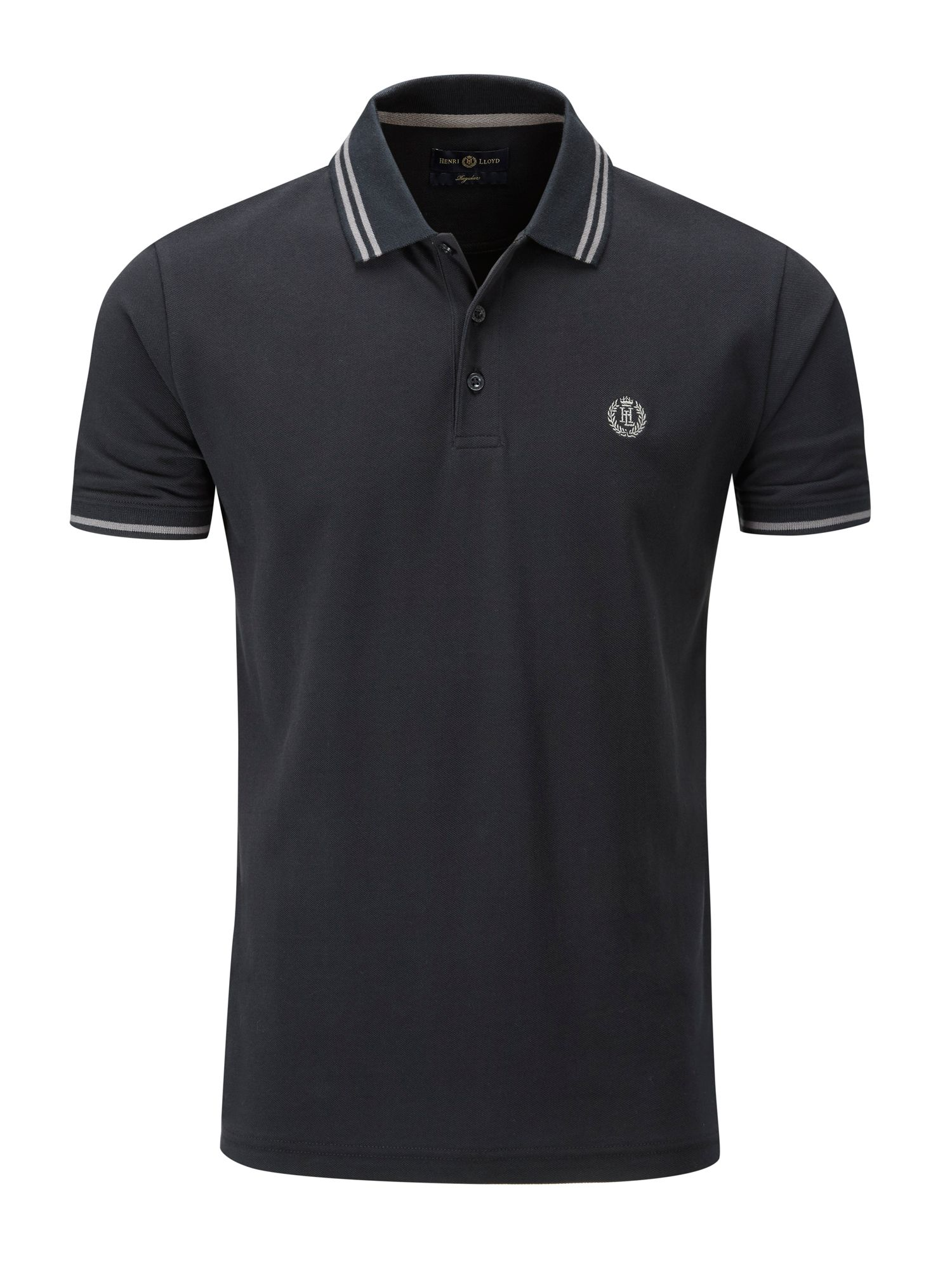 Men's Henri Lloyd Byron Regular Polo, Jet Black