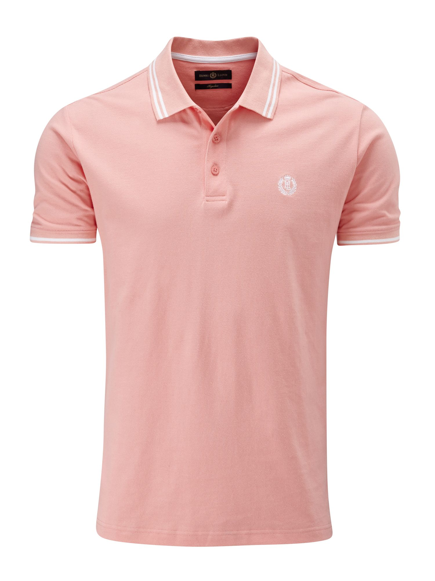 Men's Henri Lloyd Byron Regular Polo, Salmon