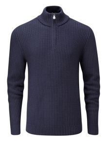 Henri Lloyd Felsted regular half zip knit